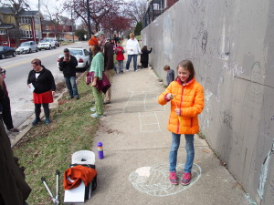 The Draw On The Wall event was held March 12 on Downer Place in Aurora.